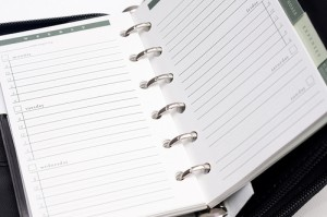 Use a daily planner to keep organized