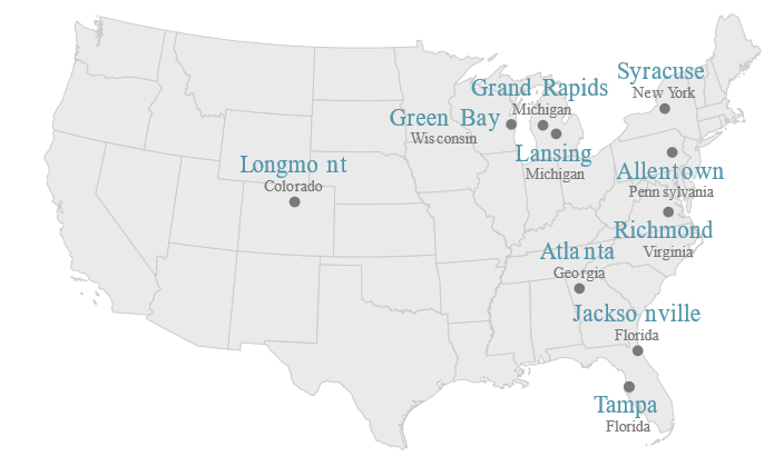 Top Outsourcing Cities